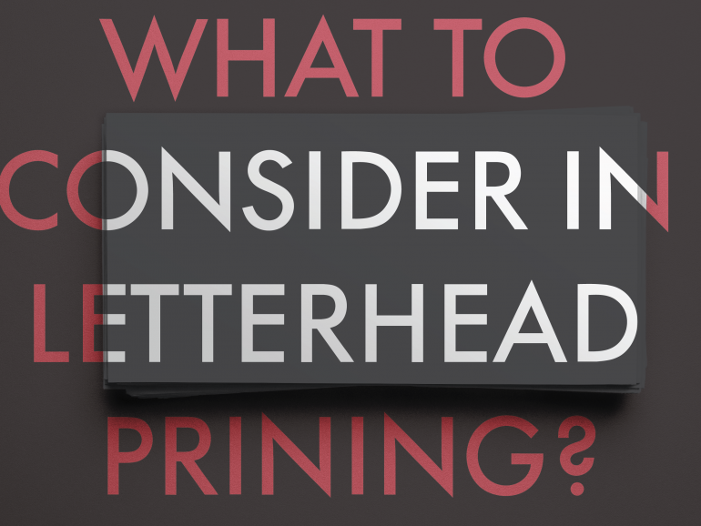 What to consider for letterhead printing in Melbourne?